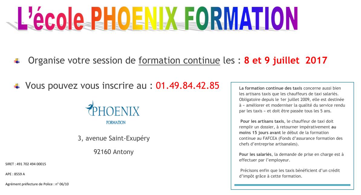 Ecole phoenix formation
