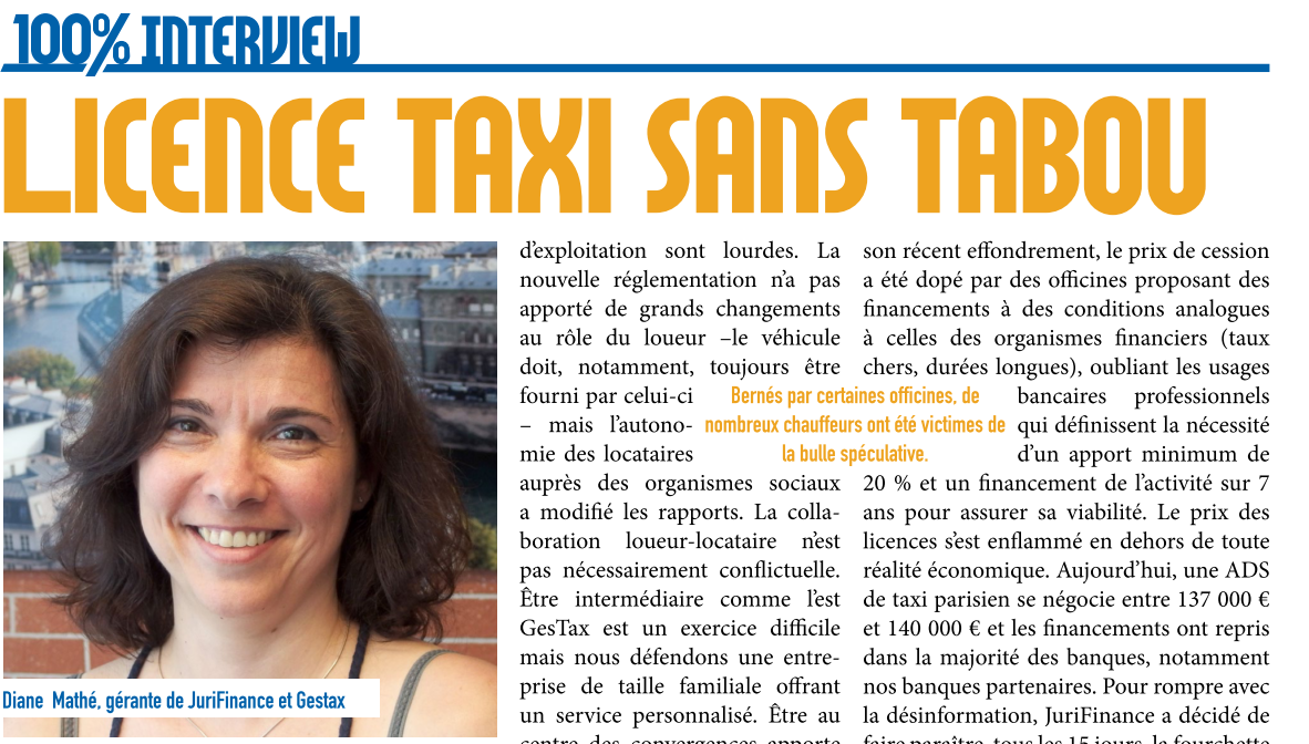 Interview Diane MATHE dans le MAG 100% News