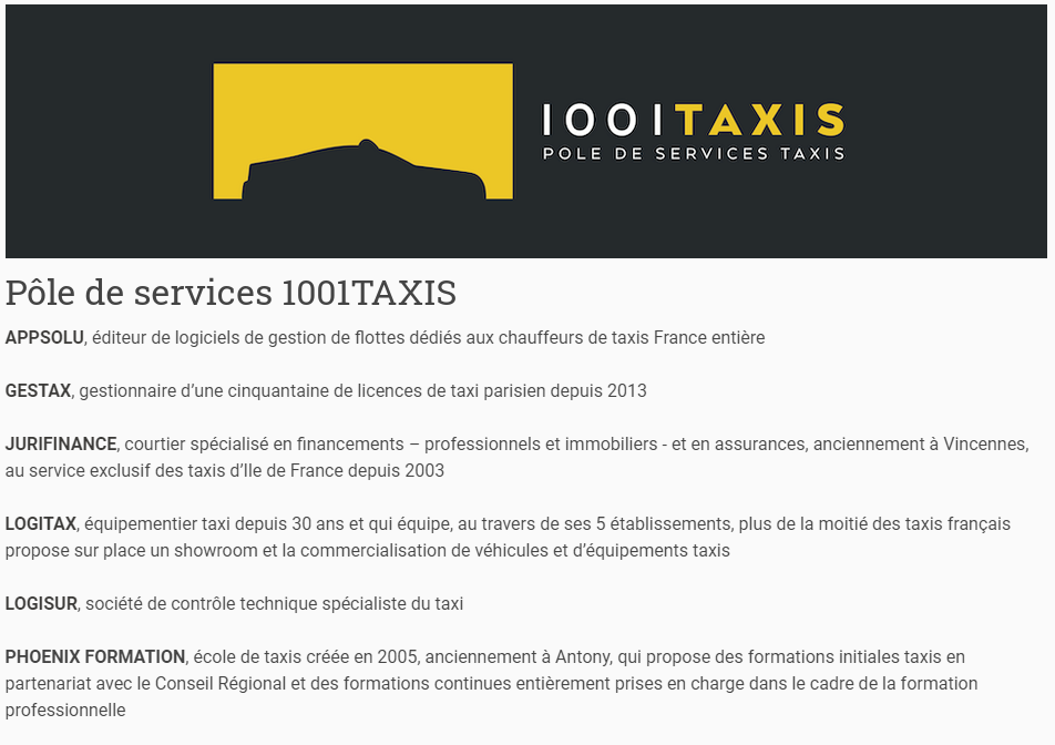 Partenaires milles et un taxi